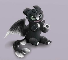My cute baby 🖤💕 Httyd Dragons, Dreamworks Dragons, Cute Dragons, Httyd 3, How To Train Dragon, How To Train Your, Toothless Drawing, Baby Animals, Cute Animals