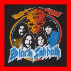 Vintage 1978 Black Sabbath tour T-shirt