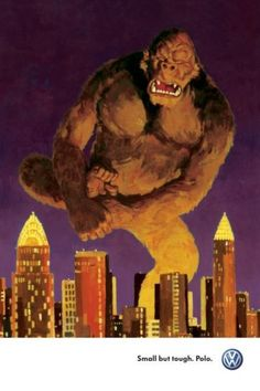 Brilliant VW King Kong related ad.