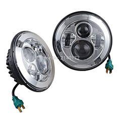 40W 7 INCH LED Projection Headlights 7'' led headlamp for Jeep 97-15 Wrangler JK TJ LJ Land Rover Defender 90 110
