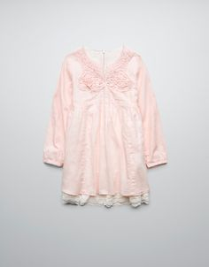 DRESS WITH LACE TRIM ON HEM - Dresses - Girl (2-14 years) - Kids - ZARA United States  $39.90