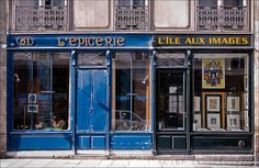 Storefronts in Ile Saint-Louis by Top Lertpanyavit, via Flickr