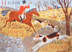 H is for Horse and Hound... graphic for the nursery. Of course it is going to be hunt themed lol.