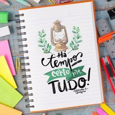 Tempo certo Lettering Tutorial, Lettering Design, Jesus Is Life, Christian Girls, Letter E, Motivational Phrases, My Bible, Typography Letters, Dear God