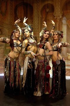 Bellydance Superstars tribal fusion bellydance: Kami, Sharon, Zoe and Moria
