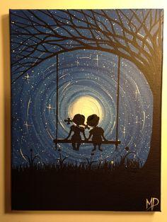 I wish I may  9 x 12 acrylic on canvas  ready by MichaelHProsper