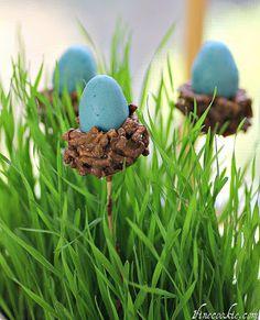 EASY Nesting Egg Cake Pops for Easter Easter Cake Pops, Easter Egg Cake, Easter Food, Easter Stuff, Easter Cupcakes, Hoppy Easter, Candy Melts, Easter Treats, Easter Candy