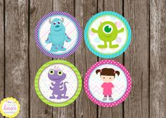 PRINTABLE *Updated* Monsters Inc Cupcake Toppers. by HilltopCustomDesigns, $5.00