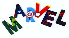 Great tutorial on how to make these 3D letters of Marvel Avengers!