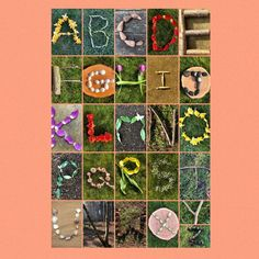 earlyyearsoutdoor on Etsy Alphabet Capital Letters, Alphabet Art, Outdoor Education, Outdoor Learning, Early Education, Nature Activities, Alphabet Activities, Land Art, Alphabet Display