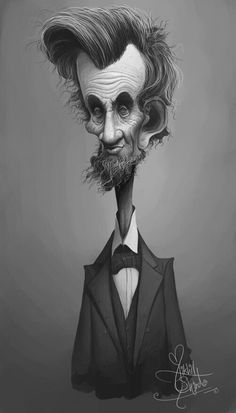 by nek - WOW I've never seen a caricature of old Abe, RIP! Cartoon Faces, Funny Faces, Cartoon Art, Cartoon Characters, Caricature Artist, Caricature Drawing, Funny Caricatures, Celebrity Caricatures, Wow Art