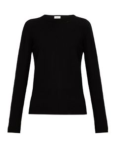 Distressed wool and cashmere-blend sweater | Saint Laurent | MATCHESFASHION.COM US