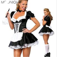 4th of July Deals at SaveMajor.com - MOONIGHT Women Se... Check it out http://savemajor.com/products/moonight-women-sexy-lingerie-french-maid-costume-restaurant-waiteress-cosplay-sexy-halloween-costumes-for-women?utm_campaign=social_autopilot&utm_source=pin&utm_medium=pin
