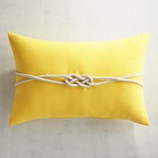 Cabana Rope Lemon Lumbar Pillow