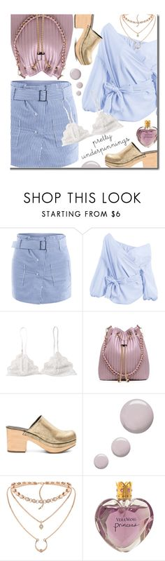 """The Prettiest Underpinnings"" by justkejti ❤ liked on Polyvore featuring Rachel Comey, Topshop and Vera Wang"