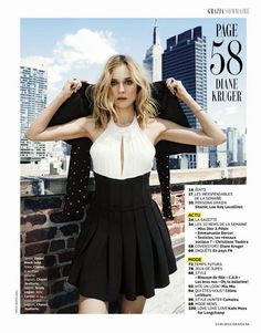 Diane Kruger by Martin Lidell for Grazia France May 2015 #lob #layers