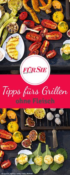 Fleischlos grillen Meatless in the barbecue season? This works out! Discover now great alternatives for the grill grate such as cheese, tofu or vegetables. Grilled Tofu Recipes, Veggie Recipes, Vegetarian Recipes, Healthy Recipes, Vegan Barbecue, Barbecue Recipes, Grilling Recipes, Vegan Smoothies, Smoothie Recipes