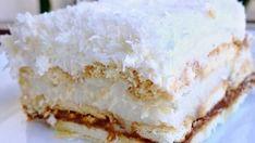 "Bine ati venit in Bucataria Romaneasca. Astazi va prezentam o reteta de Tort ""Raffaello"". Raffaello Cake, Romanian Desserts, Russian Recipes, What To Cook, Vanilla Cake, Food Inspiration, Food Videos, Sweet Recipes, Baking Recipes"