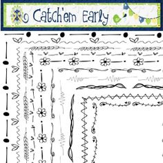 Doodle Borders Set 2 by CatchemEarly on Etsy