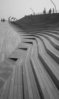 Yokohama International Port Terminal - Foreign Office Architects Very cool and interesting Architecture Design, Amazing Architecture, Urban Landscape, Landscape Design, Garden Design, Landscape Arquitecture, Urban Furniture, Urban Planning, Park