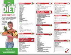 Eat Clean Diet Grocery List!
