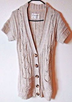 Aeropostale Deep-Vneck Cardigan Oatmeal Cable Knit Size Large | Clothing, Shoes & Accessories, Women's Clothing, Sweaters | eBay!