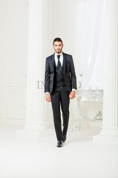 BA 583-16 #sposo #groom #suit #abito #wedding #matrimonio #nozze #nero #black