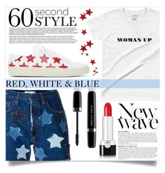 """""""Red, White & Blue"""" by mistressofdarkness ❤ liked on Polyvore featuring Faith Connexion, Marc Jacobs, Yves Saint Laurent and Anja"""