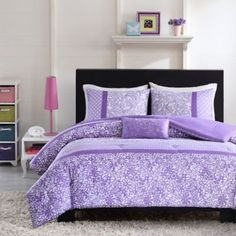 Mizone Riley Reversible Comforter Set in Purple - BedBathandBeyond.com
