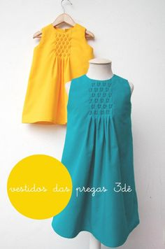Adorable pleating detail (instructions included within dress tutorial)