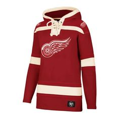 Detroit Red Wings Women s 47 Brand Red Pullover Jersey Hoodie Detroit Game 2eda03daf