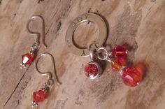 JOY pendant and earrings set sterling by CreativeWorkStudios Earring Set, Swarovski, Joy, Pendant, Jewelry, Jewlery, Bijoux, Glee, Schmuck