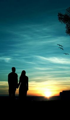 Beautiful Couple, Celestial, Sunset, Couples, Outdoor, Outdoors, Sunsets, Outdoor Games, Romantic Couples