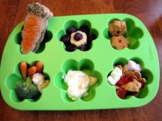 How Does Your Garden Grow muffin tin meal...
