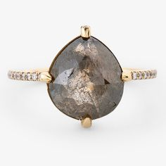 Robin Haley Green Diamond Ring Gold