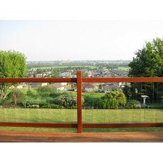 Vista Railing 6 ft. Clearview Level Deck Rail Kit | Wayfair Porch Railing Kits, Deck Railing Systems, Vinyl Railing, Outdoor Railings, Cable Stair Railing, Deck Balusters, Glass Stairs, Glass Railing, Interior Railings