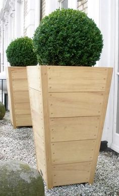 tapered wood planters