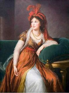 Louise Élisabeth Vigée Le Brun Portrait of Princess Galitzin (1763-1842) (Princess Royal of Georgia) 1797