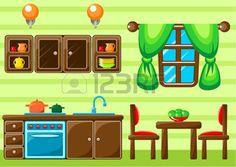 house interior: Intérieur de cuisine. Vector illustration Illustration