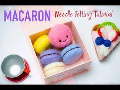 Macaron Needle Felting Tutorial DIY by Kawaii Felting [feat. My Crafty Felt Wool] - YouTube