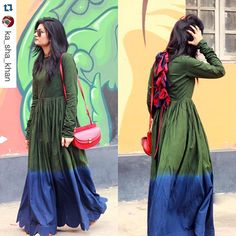 """KaSha ❤️ http://fashion.makeupandbeauty.com/new-journey/ Repost @ka_sha_khan with @repostapp. ・・・ #KaSha loves our #dipdyed #Bowed dress on…"""