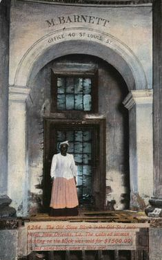 enslaved woman was sold for $1500. She was photographed on an auction block under the grand rotunda of the St. Louis Hotel in New Orleans, which was on the site of the present-day Omni Royal Orleans.