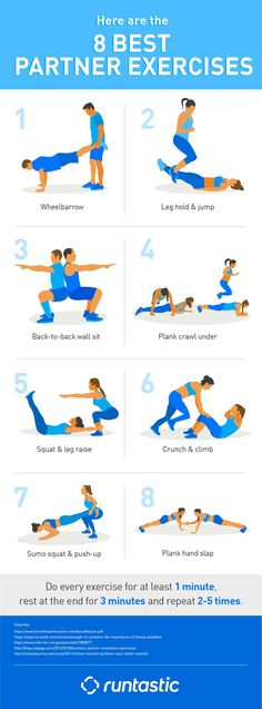 8 BEST PARTNER EXERCISES: HOW TO MAKE BIG GAINS TOGETHER - Find out more on our blog!