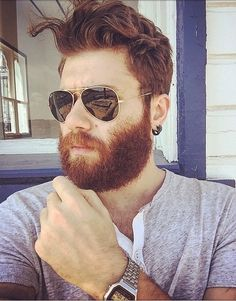 I want a real flesh silicone mask of his thick bearded face and full head of hair, purely for the pleasure of having that thick moustache and thick beard with that extremely high beard line on the cheek. Red Beard, Beard Love, Ginger Men, Ginger Beard, Best Beard Styles, Hair And Beard Styles, Hairy Men, Bearded Men, Beautiful Red Hair