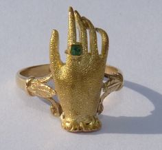 Gold Memento Mori Mourning Skull Ring Art Nouveau Victorian Antique Death Hand | eBay
