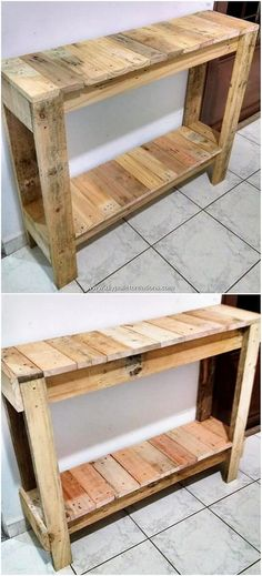 Outstanding DIY Creations with Old Wood Pallets There are many designs of wood work table pieces tha Pallet Furniture Easy, Pallet Furniture Designs, Woodworking Furniture, Wood Furniture, Woodworking Plans, Youtube Woodworking, Urban Furniture, Woodworking Videos, Furniture Online