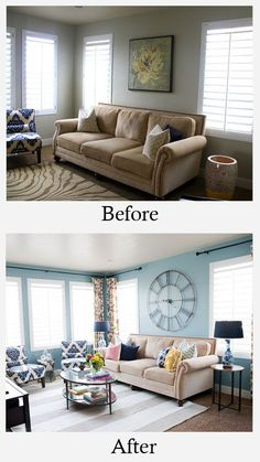 Living Room Makeovers - Before and After