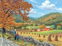 Buy Farm Harvest - Landscape Paint By Number kit or check our new modern collections for adults paint by numbers. Relax and enjoy your canvas painting Farm Paintings, Country Paintings, Fall Pictures, Pictures To Paint, Simple Pictures, Canvas Pictures, Landscape Art, Landscape Paintings, Autumn Scenes