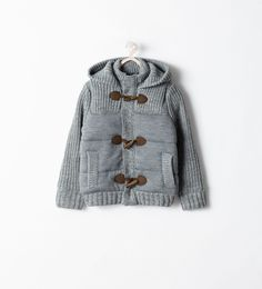 Image 1 of HOODED CARDIGAN WITH TOGGLES from Zara