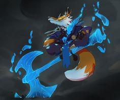 ArtStation - Cauldron - Spirit Fox Mage , Guille García